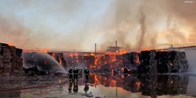Fire Spreads Through Tons of Recycled Paper in Spain
