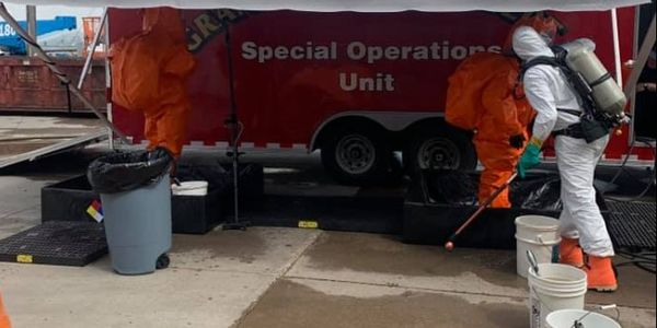 Grand Forks firefighters break out the hazmat response vehicle for an ammonia leak at a food...