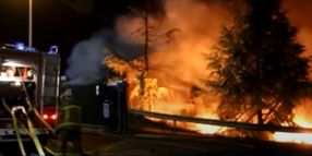 Aroma of Spanish Recycling Plant Fire Obvious 30 Miles Away