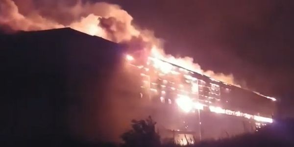 A blazing warehouse in Gunsan City, South Korea, took seven days to extinguish.