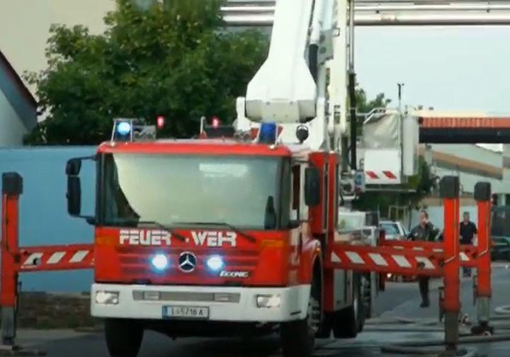 Fire truck with the Linz Fire Brigade. - Screencapture Via YouTube