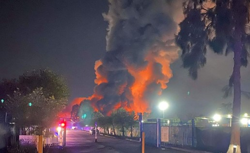 Eight-Alarm Industrial Fire Breaks Out in Australia