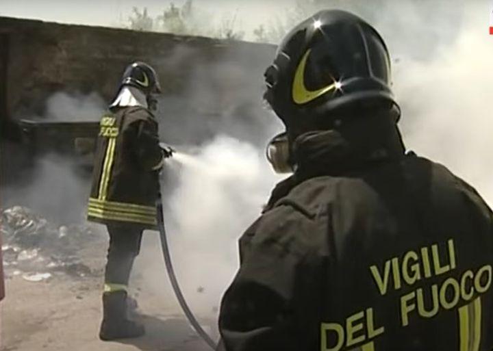 Naples firefighters on duty. - Screencapture Via YouTube