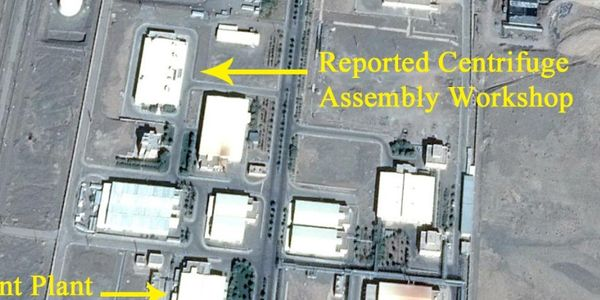 Satellite photo shows building prior to fire damage Thursday.