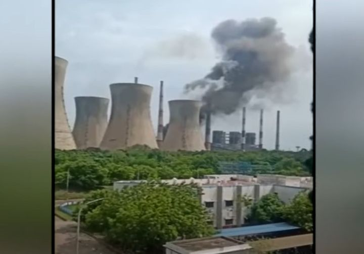 A boiler explosion at a power plant in India killed six people Wednesday. - Screencapture Via Doordarshan