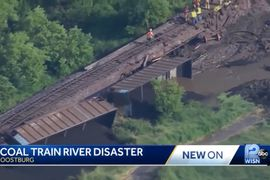 Spilled Coal Pollutes Wisconsin River Following Derailment