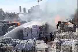 Recycling Plant Fire in Argentina Threatens Nearby Homes