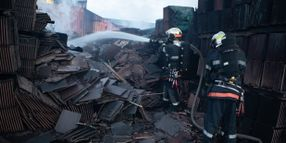 Fire Scorches Inventory at French Tile Manufacturing Plant