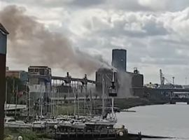 An explosion at Tilbury Docks grain terminal in the UK shook houses for miles.