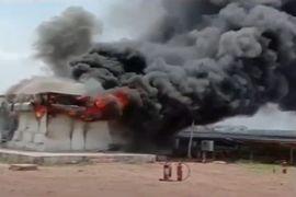 Transformer Blasts Spread Fire Through Solar Plant in India
