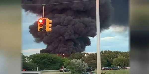 A tanker truck erupted in flames in Michigan Saturday night.