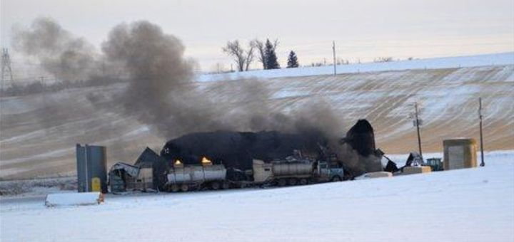 The fire that broke out Dec. 29, 2012, at Custom Carbon Processing in Montana was still burning two days later. - Photo Courtesy of Wilbaux County Disaster and Emergency Services.