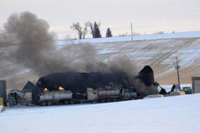 The fire that broke out Dec. 29, 2012, at Custom Carbon Processing in Montana was still burning...