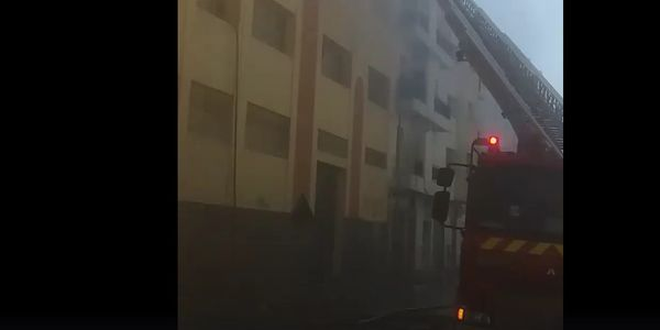 Packaged inventory went up in flames at a candy factory in Morocco Monday.