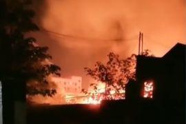 Hazmat Storage Facility Burns in Southeastern China