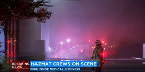 Automatic Sprinklers Deal With California Warehouse Fire