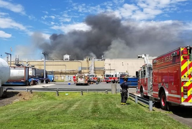 Fire Breaks Out at Cleaning Products Plant in New Jersey