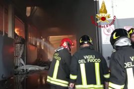 Food Processing Plant in Italy Consumed by Flames