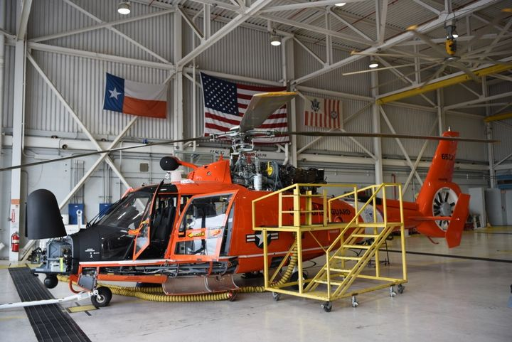 Coast Guard Air Station Houston is preparing for the coming storms of Marco and Laura in Houston, Texas, Monday. - Photo by Petty Officer 3rd Class Ryan Noel.
