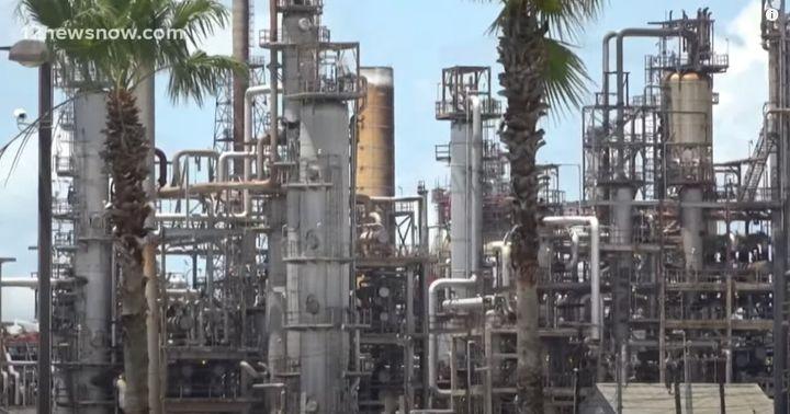 The Motiva refinery in Port Arthur, Texas. - Screencapture Via YouTube