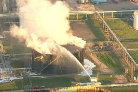 Storage Tank Blaze Quickly Extinguished in Texas