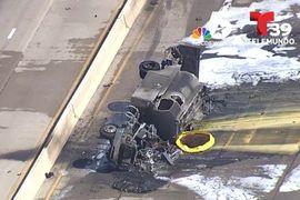 Fatal Fuel Truck Fire Closes Texas Expressway