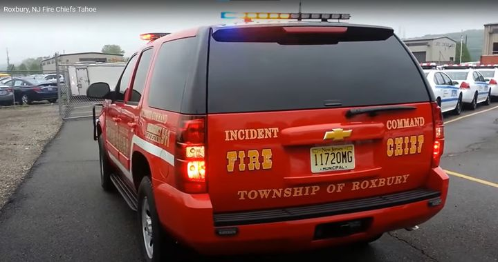 Incident command vehicle used by the Roxbury Fire Department in New Jersey. - Screencapture Via Youtube