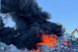 Minnesota Scrap Yard Unleashes Tower of Smoke