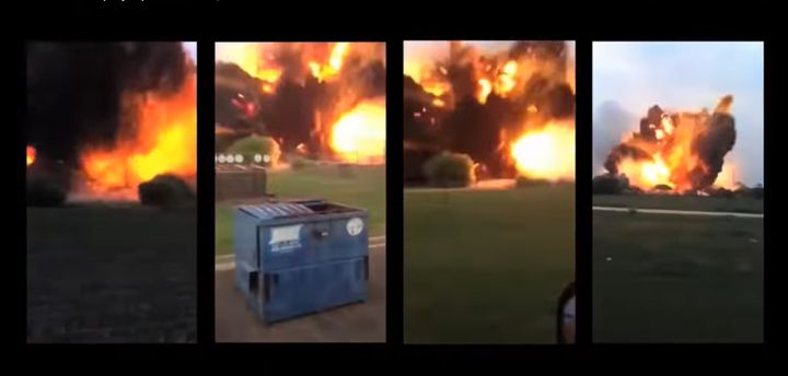The explosion in West, Texas, captured from multiple angles. - Screencapture Via YouTube