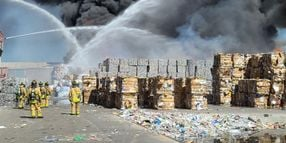 Outdoor Storage Ignites at New Mexico Recycling Plant