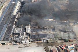 Massive Warehouse Fire Rips Through Italian Port City