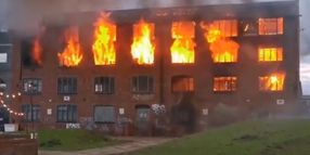 Arson Cited As Cause of Fire in Derelict English Factory