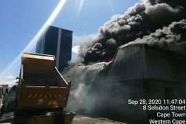 One Person Injured in Massive South African Plant Fire