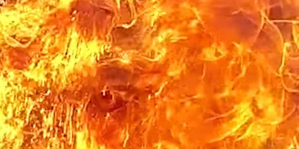 Flames Guts Plastic Granules Plant in Western India