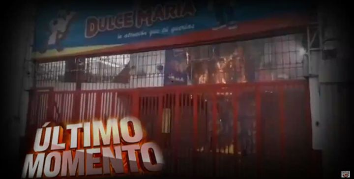 Dulce Maria candy factory in Mexico City burns Wednesday. - Screencapture Via YouTube