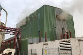 Firefighters in Chile Extinguish Fuel Pellet Factory Fire
