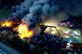 Recycling Plant Inferno Breaks Out in Oklahoma City