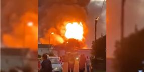 Explosions Shatter the Night in Southeast England