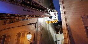 French Responders Extinguish Warehouse Fire