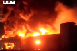 Dairy Factory in Flames near Iranian Capital City