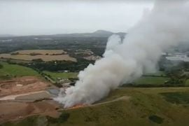 Recycling Plant Fire Dominates English Countryside