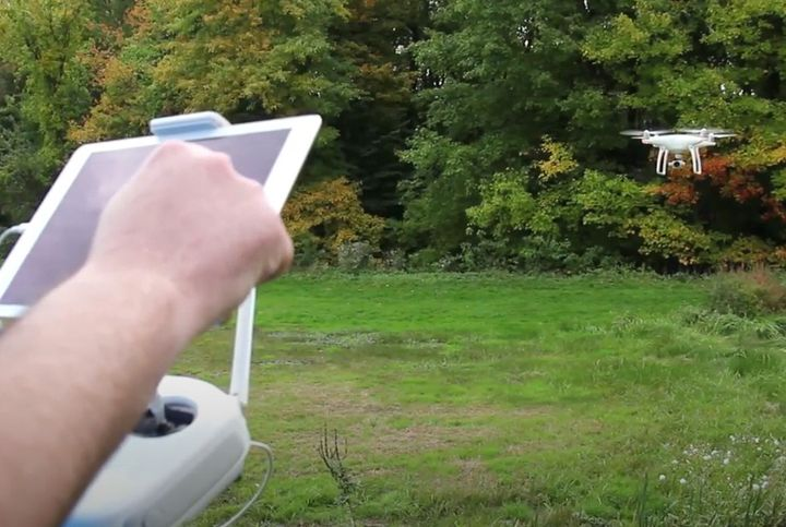 Unmanned Aircraft System being demonstrated. - Screencapture Via YouTube