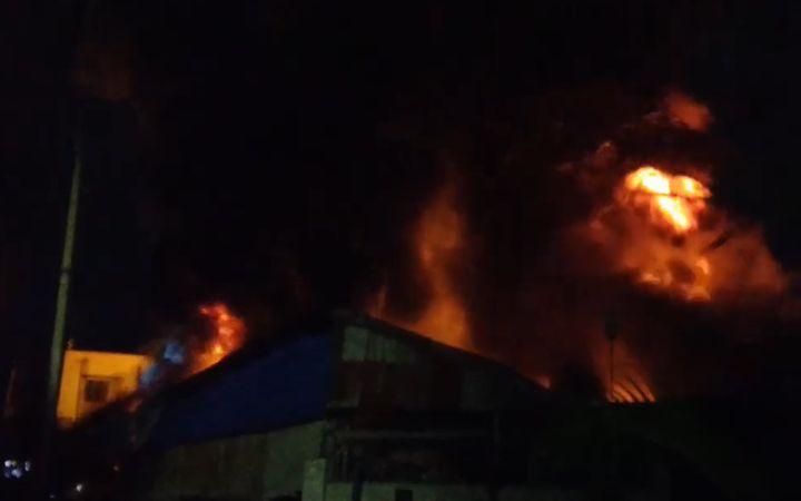 Fire spread through a tire factory Wednesday in Bangladesh. - Screencapture Via YouTube