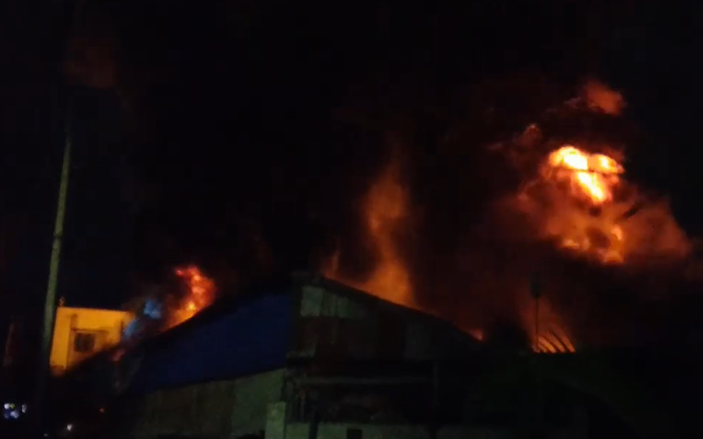 Flames Consume Factory Complex in Bangladesh