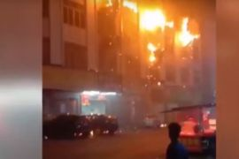 Massive Factory Fire Dominates Southern Chinese Town