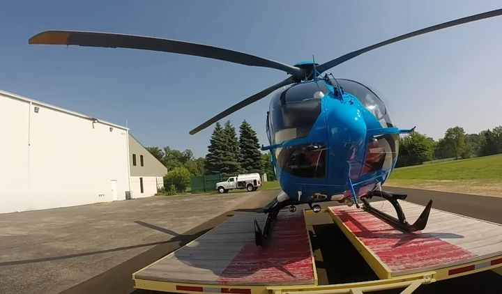 One of Superior Ambulance Service's Air Med 1 helicopters. - Screencapture Via YouTube