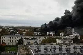 Major Warehouse Blaze Breaks Out in France