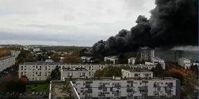 Major Warehouse Blaze Breaks Out in France