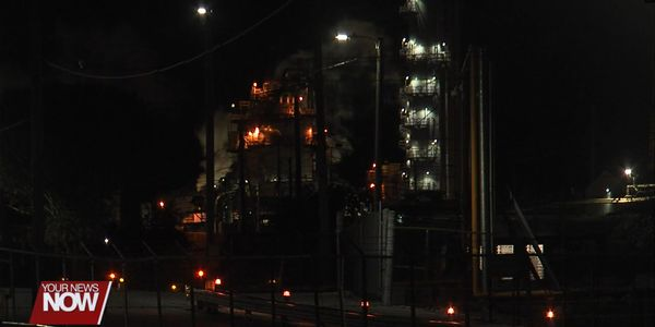 Tank collapse Sunday night rocked an Ohio chemical plant.