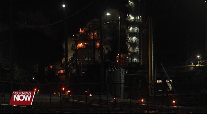 Tank collapse Sunday night rocked an Ohio chemical plant. - Screencapture Via WLIO